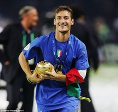 Totti won the World Cup with Italy in 2006, one of six first team honours he has won in his long career