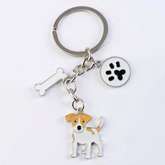 Jack Russell Terrier key chains for women men girls silver color metal alloy dog pendant bag charm car keychain key ring holder Jack Russell Terriers, Jack Russell Dogs, Chains For Men, Key Chains, Dog Keychain, Dog Jewelry, Jewelry Sets, Dog Lover Gifts, Dog Design