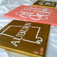 Monogrammed Greek Canvas by AmkayaDesigns on Etsy Pi Beta Phi, Kappa Alpha Theta, Phi Mu, Alpha Chi, Delta Zeta, Little Presents, Little Gifts, Cute Crafts, Diy And Crafts