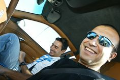 When I met Nikos Kaklamanakis, the Olympic medalist in windsurfing. Great fun with his Porsche in the racetrack!