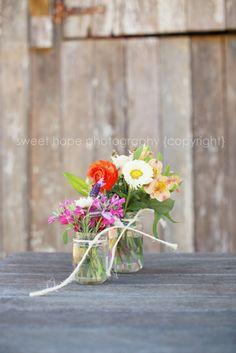 Rustic Spring Wedding Flowers Sweet Hope Photography