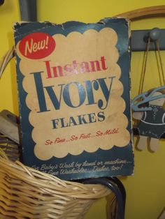 Ivory soap flakes Always used it for diapers.