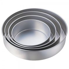 Our favorite cake pans, made of anodized aluminum for even baking. Fat Daddio's is the best!
