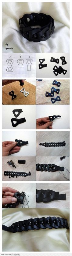 DIY Homemade Accessories :  All that is needed is, a little time and a good mood to produce this wristband. Its easy to make and has great potential to be customized to suit individual personalities.