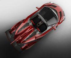 Top view of Lamborghini Veneno Roadster