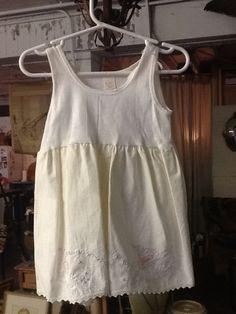 Vintage Cotton Girls Dress by 3birdz on Etsy