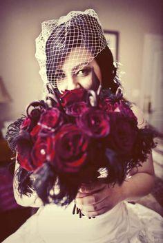 The Shining Inspired Glam Goth Wedding