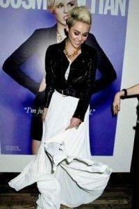 White maxi dress with leather jacket
