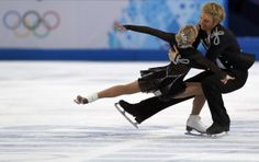 cool!! Great Britain's Penny Coomes and Great Britain's Nicholas Buckland perform in the Figure Skating Ice Dance Free Dance at the Iceberg Skating Palace during the Sochi Winter Olympics on February 17, 2014. AFP PHOTO / ADRIAN DENNIS (Photo credit should read ADRIAN DENNIS/AFP/Getty Images)
