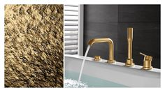 How about elegant gold in your bathroom? Be as individual as you want and find the colour that suits you best with GROHE Spa Colours