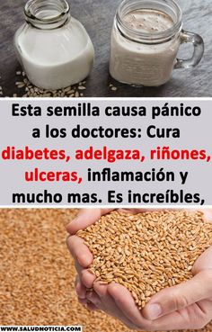 Esta semilla causa pánico a los doctores: Cura diabetes, adelgaza, riñones, ulceras, inflamación y mucho mas. Es increíbles, #cura #diabetes #adelgaza #rinones Healthy Drinks, Healthy Tips, Detox Diet For Weight Loss, Foods For Abs, Love My Body, Natural Cures, Diabetic Recipes, Diet Tips, Health Foods
