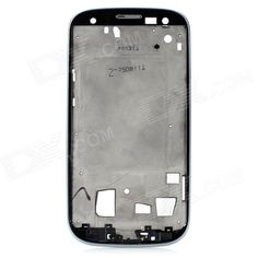 Replacement PVC + Aluminum Alloy Front Case for Samsung S3 i9300 - Silver
