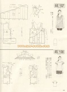 Discussion on LiveInternet - Russian Services online diary Kids Dress Patterns, Blouse Patterns, Doll Patterns, Clothing Patterns, Bodice Pattern, Tunic Pattern, Top Pattern, Japanese Sewing Patterns, Sewing Patterns Free