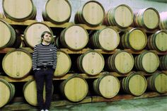 Hannes in our barrique cellar - picture by Conny Eisfeld from #Lomoherz