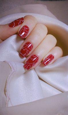Pinned by www.SimpleNailArtTips.com VALENTINE NAIL ART DESIGN IDEAS - My Valentine