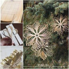 How to DIY Paper Book Snowflake Christmas Ornament