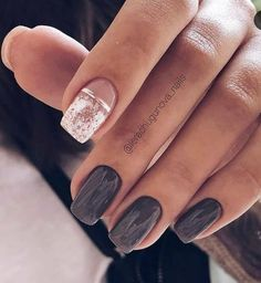35 Pretty nail art designs for any occasion Elegant navy blue nail colors and designs for a Super Elegant Look - Wedding hairstyles Fabulous Nails, Perfect Nails, Cute Nails, My Nails, Grow Nails, Navy Blue Nails, Nagellack Trends, Best Acrylic Nails, Matte Nail Art