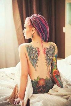 Wing tattoo - 35 Breathtaking Wings Tattoo Designs  <3 <3