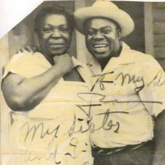 Louis Armstrong & his sister - love this photo and the grain Louis Armstrong, Jazz Blues, African American History, American Art, Jazz Music, History Facts, My People, Vintage Photographs, Black People