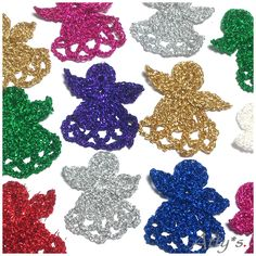 atty's: Crochet Christmas Angels - you can easily turn this into garland by stringing them at their heads