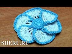Crochet Flower Tutorial Sheru : Sheru tutorials on Pinterest Flower Tutorial, How To ...