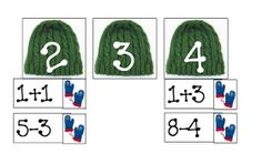 Swamp Frog First Graders: Mitten and Hat Number Sentence Sort