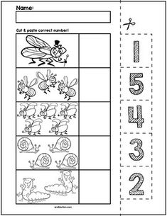 Teach counting skills with these Spring Bugs! Great for teaching counting skills and number recognition for numbers No prep and great for math centers! Numbers Preschool, Preschool Learning, Kindergarten Worksheets, In Kindergarten, Teaching Kids, Numbers For Toddlers, Preschool Activities, Teaching Resources, Transportation Theme