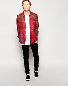 Enlarge ASOS Shirt In Long Sleeve With Plaid  Check