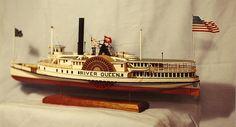 Martha's Vineyard-Nantucket Steamboat RIVER QUEEN c.1871, Scale Model