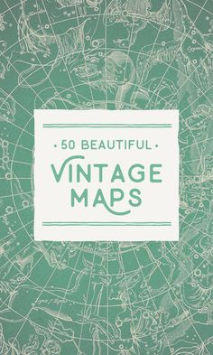 On the Creative Market Blog - 50 Beautiful Vintage Maps for All Your Retro Designs
