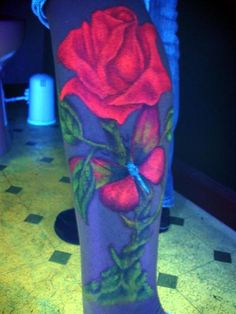 UV Black Light Tattoos for 2016 Uv Tattoo, Uv Ink Tattoos, Dark Tattoo, Rose Tattoos, Black Tattoos, Tatoos, Wicked Tattoos, Epic Tattoo, Ankle Tattoos