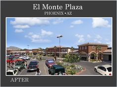 El Monte Plaza in Phoenix AZ after Re-development completion by Michael A Pollack, owner of Pollack Investments in Mesa, AZ.