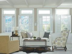 Just found the perfect window treatments!! - Blinds.com. –  Woodcore Faux Wood Shutter #homedecor #blinds #plantation-shutters
