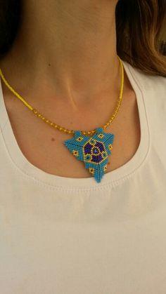 Miyuki Muska Beading Tutorials, Beading Patterns, Beaded Lace, Beaded Jewelry, Peyote Stitch Patterns, Triangles, Geometric Jewelry, Bead Weaving, Friendship Bracelets