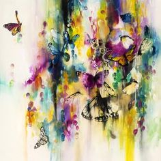 Katy Jade Dobson is a UK based oil painter from Yorkshire. Katy Jade Dobson uses a number of mediums to paint her amazing pieces. Butterfly Art, Butterflies, Butterfly Birthday, Butterfly Watercolor, Abstract Animals, Insect Art, Posca, Art Uk, Wildlife Art
