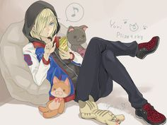 Yuri Plisetsky - Yuri!!! on Ice by にゃんぽこマーチ on pixiv (id: 15507449)