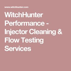 Fuel injector cleaning and flow testing. complete blueprinting service for injectors