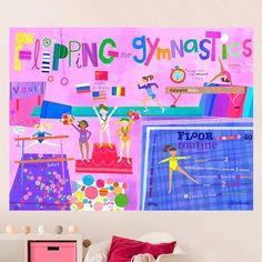 gymnastics wall decal reach for the stars Gym the boyfriend