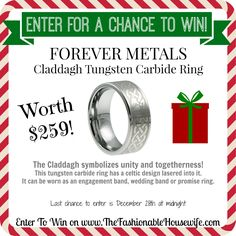 Enter for a chance to win Forever Metals claddagh rings worth $259! #12daysofchristmasgiveaways