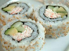 How to make California Rolls, California Sushi Rolls, Maki-zushi, Japanese recipe. i will use real crab