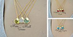 Stone & Leaf Necklace
