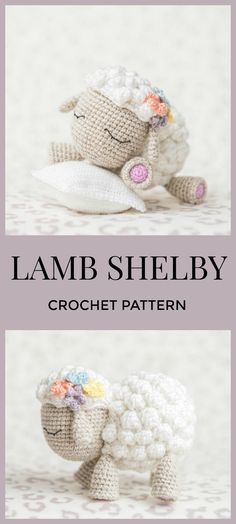 "Sooooo cute! These will be great Easter gifts for my kids. Crochet Pattern of Lamb Shelby from ""AradiyaToys Design"" (Amigurumi tutorial PDF file) #crochet #amigurumi #lamb #affiliate #pattern #tutorial #etsy"
