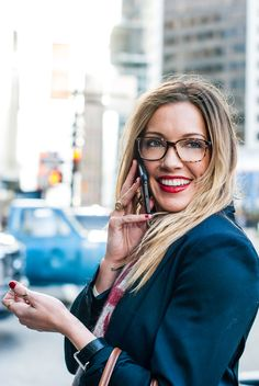 What Katie wore: London calling | Katie  Cassidy Tomboy KC Glasses