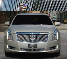 Cadillac XTS Classic Vertical Upper Grille with Mesh Backing by E&G CLASSICS, 2013, 2014, 2015 | ShopSAR.com