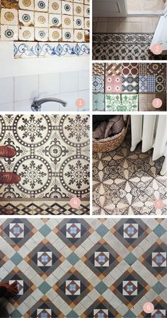  handmade·: azulejo hidráulico te quiero