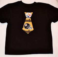 Embroidered Tie Applique Pittsburgh Steelers Infant Toddler T-shirt or  Onesie.  17.00 9f0aa0104