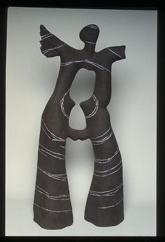 Winged Figure by Gudrun Klix                                           (Craft Australia National Historical Collection)