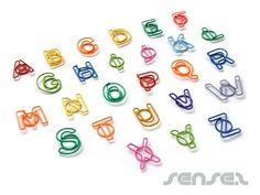 Letter Paper Clips - for clipping and labeling files and stacks of paper