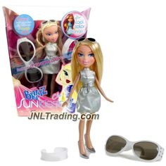 MGA Entertainment Bratz Sunkissed Series 10 Inch Doll - CLOE in Dress that Change Color in Sunlight & Sunglasses Plus Sunglasses & Bracelet for You