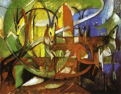 Franz Marc Oil Paintings Reproductions On Artclon   Franz Marc Oil ...